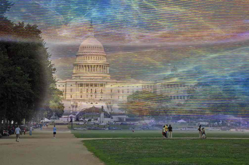 WiFi ELECTROMAGNETIC RADIATION Around US Congress Capitol Building